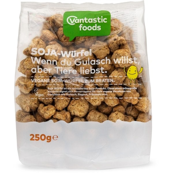 Vantastic foods VANTASIC SOYA CUBES - soya meat, 250g