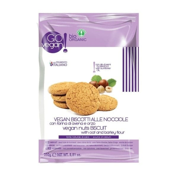 GOvegan Organic VEGAN COOKIES with minced hazelnuts, 250g