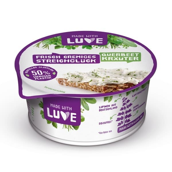 "Made with Luve FRISCH CREMIGES STREICHGLUECK ""fresh creamy spread bliss"" herbs, 150g"