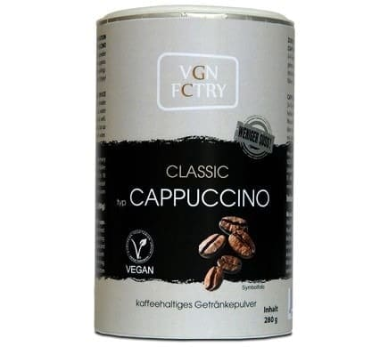 VGN FCTRY INSTANT CAPPUCCINO Classic weniger süß, 280g