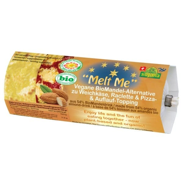 Soyana MELT ME soft cheese, raclette, pizza and casserole topping , ORGANIC, 200g