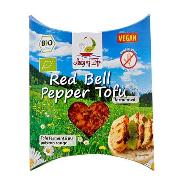 Lord of Tofu RED BELL PEPPER TOFU, BIO, 130g