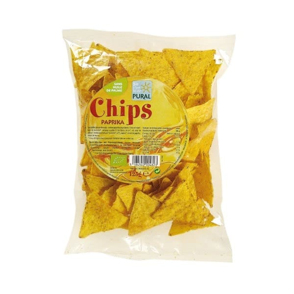 Pural MAIZE CHIPS paprika, organic, 125g