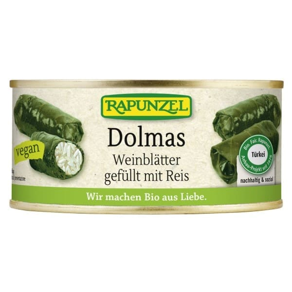 Rapunzel DOLMAS wine leaves filled wirth rice, organic, 280g