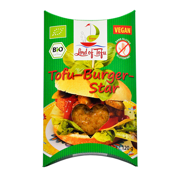 Lord of Tofu TOFU BURGER STAR, BIO, 120g