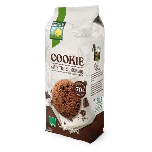 Bohlsener Mühle Organic COOKIE with Dark Chocolate, 175g