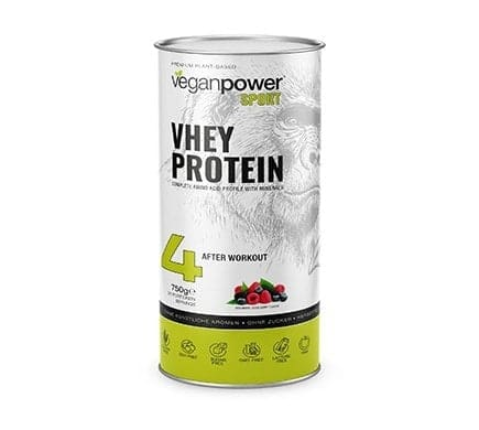 veganpower VHEY PROTEIN with berry flavour, 750g