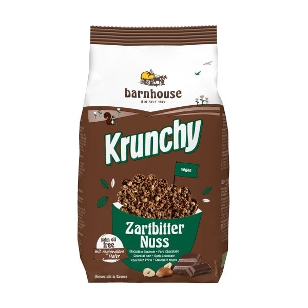 Barnhouse KRUNCHY dark chocolate nut, organic, 375g