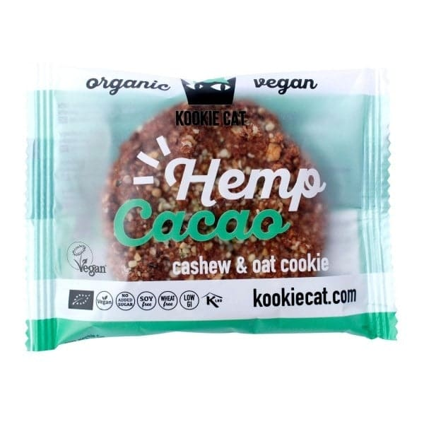Kookie Cat CASHEW-OAT-COOKIE hemp & cacao, organic, 50g
