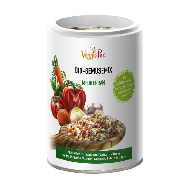 VeggiePur VEGETABLE-MIX Mediterranean, organic, 130g