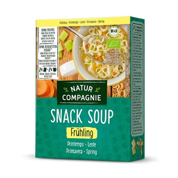 Natur Compagnie SNACK SOUP spring, organic, 2x17g