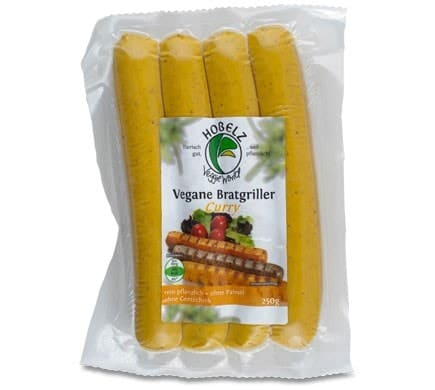 Hobelz VEGAN BRATGRILLER Curry, 250g