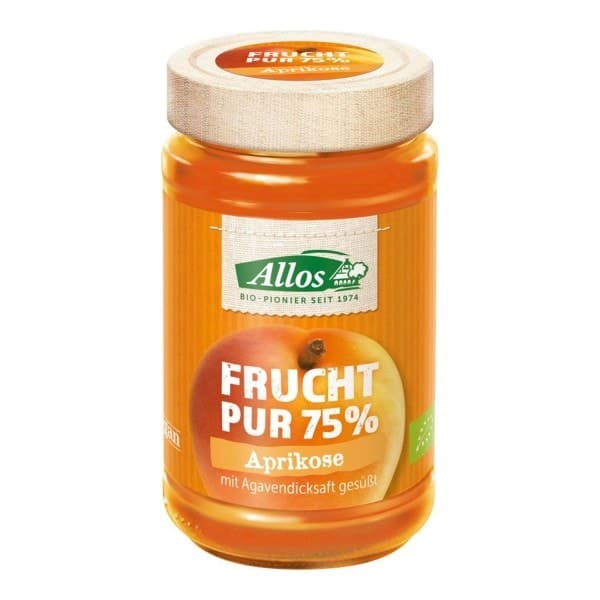 """Allos FRUCHT PUR """"fruit pure"""" apricot, organic, 250g"""