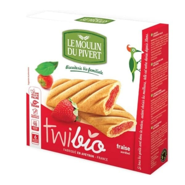 Le Moulin Du Pivert TWIBIO with Strawberry Filling, 150g