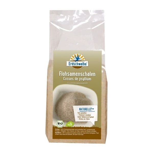 Erdschwalbe Organic PSYLLIUM HUSKS finely ground, 250g