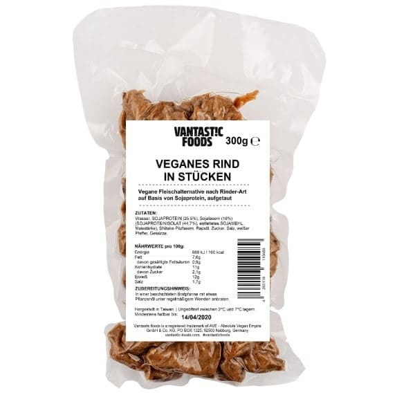 Vantastic foods VEGAN BEEF in pieces, 300g