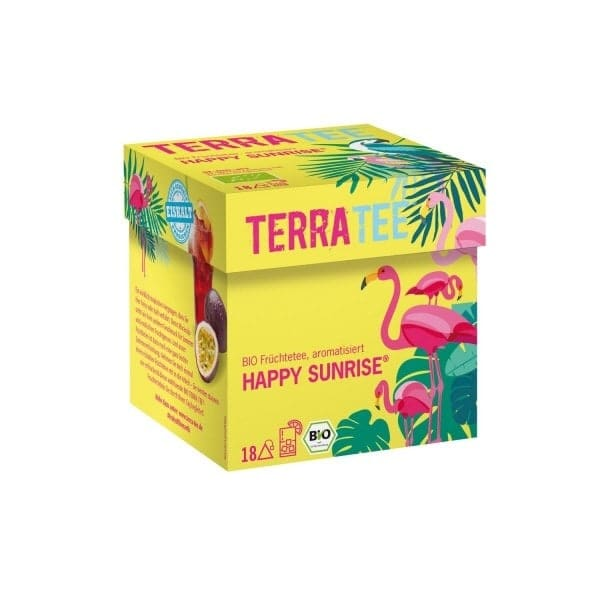 Terra Tee® HAPPY SUNRISE fruit tea, organic, 45g (18 bags)
