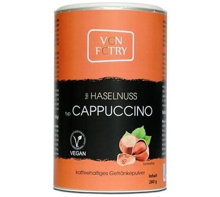 VGN FCTRY INSTANT CAPPUCCINO hazelnut, 280g