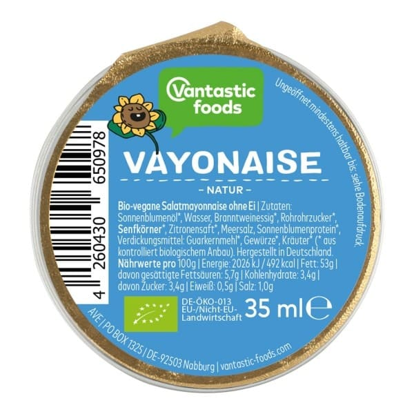 Vantastic foods VAYONAISE PORTIONSPACK, BIO, 35ml
