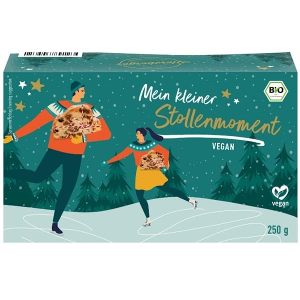 Herzberger VEGAN MINI CHRISTSTOLLEN, organic, 250g