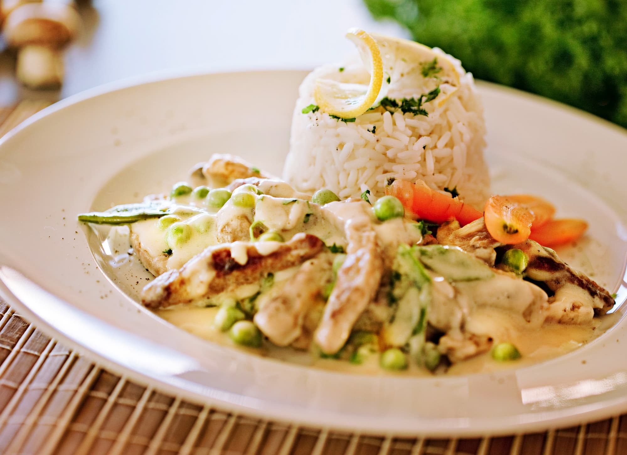 Creamy Fricassee With Bell Peppers