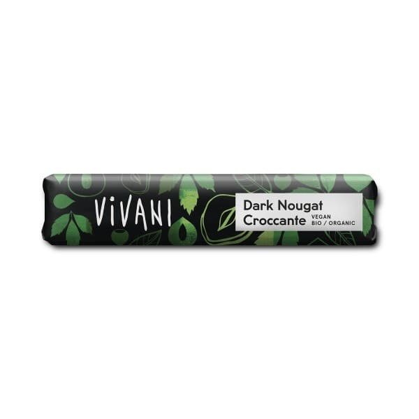 Vivani DARK NOUGAT CROCCANTE chocolate bar, organic, 35g