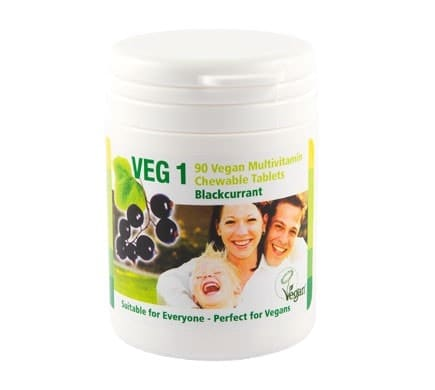 VEG 1 Vitaminsupplement Black Currant, 90 tablets