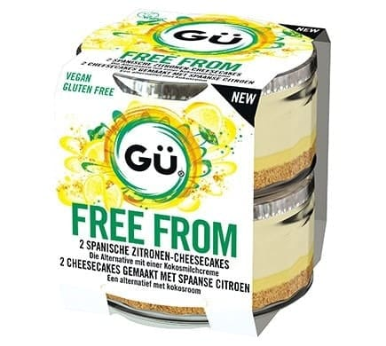 Gü FREE FROM Zitronen Cheesecake, 2x92g