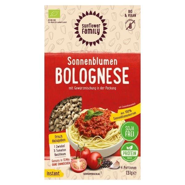 SunflowerFamily SUNFLOWER BOLOGNESE, organic, 131g