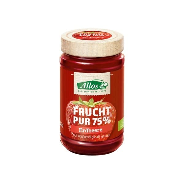 "Allos FRUCHT PUR ""fruit pure"" strawberry, organic, 250g"