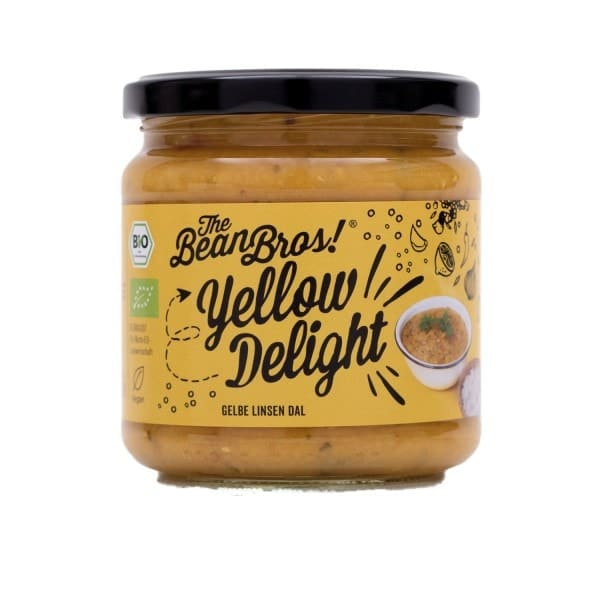 The Bean Bros YELLOW DELIGHT gelbe Linsen Daal, BIO, 380g