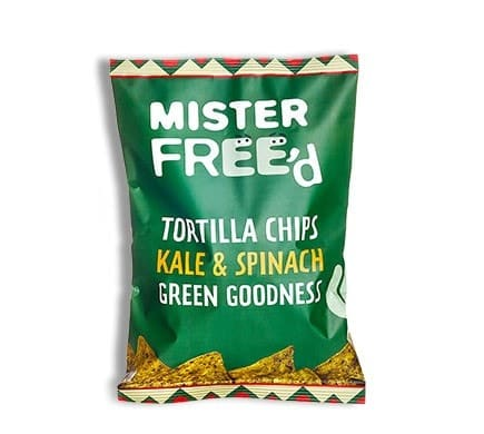 "Mister Free'd TORTILLA CHIPS ""El Verde"" with kale and spinach, 150g"
