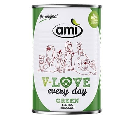 Ami V-LOVE every day GREEN lentils broccoli, 400g