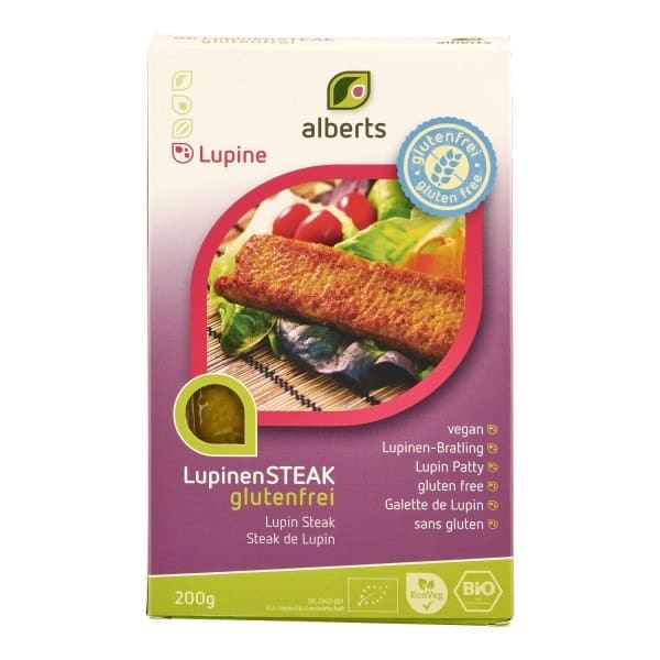 Alberts LUPINEN STEAK, lupin steak, organic, 200g