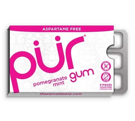PÜR GUM POMEGRANATE MINT chewing gum, 12,6g