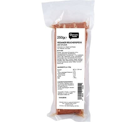 Vantastic foods VEGAN SMOKE BACON in one piece, 250g
