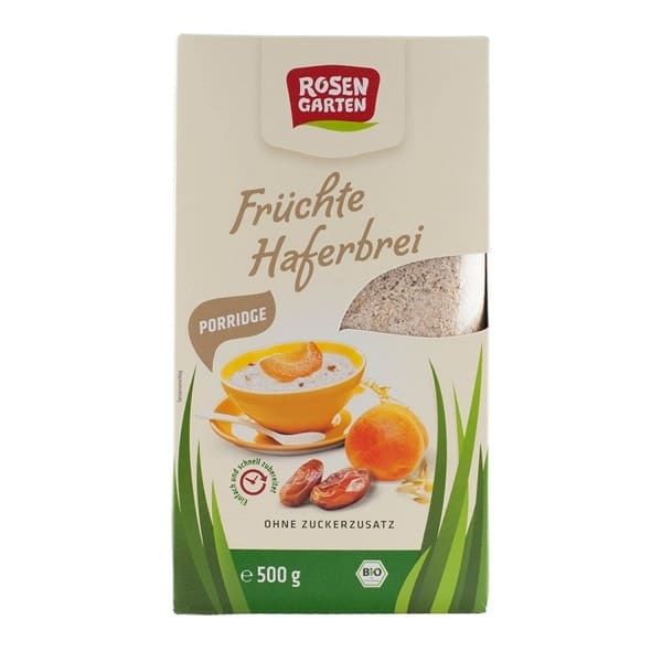 Rosengarten FRUIT PORRIDGE without added sugar, organic, 500g