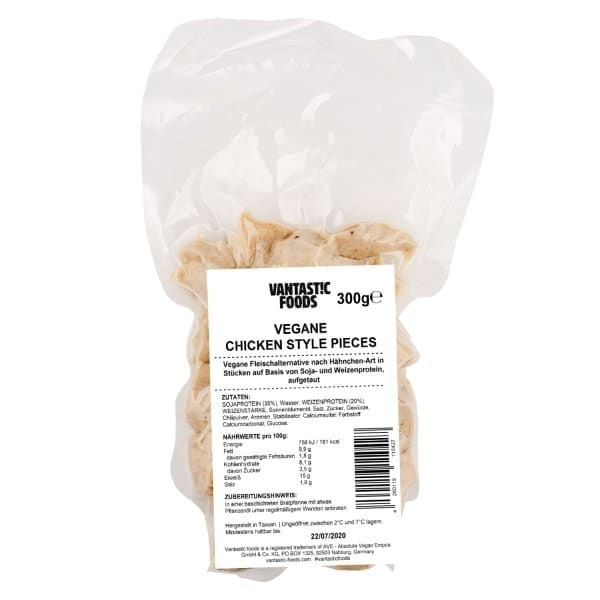 Vantastic Foods VEGAN CHICKEN Style Pieces, 300g