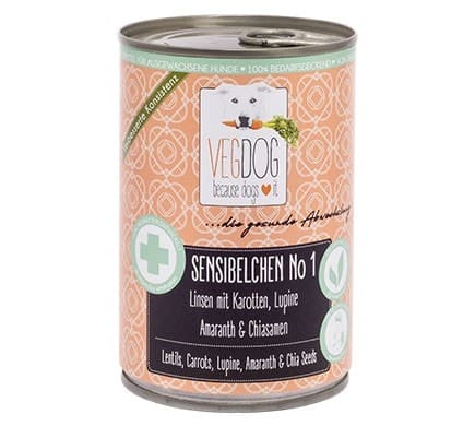 VEGDOG SENSIBELCHEN No1, vegan feed for sensitive dogs, 400g