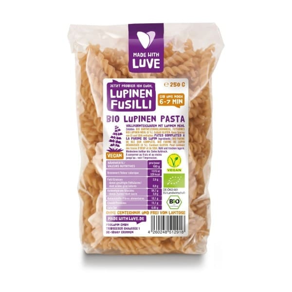 Made with Luve LUPINE FUSILLI, organic, 250g