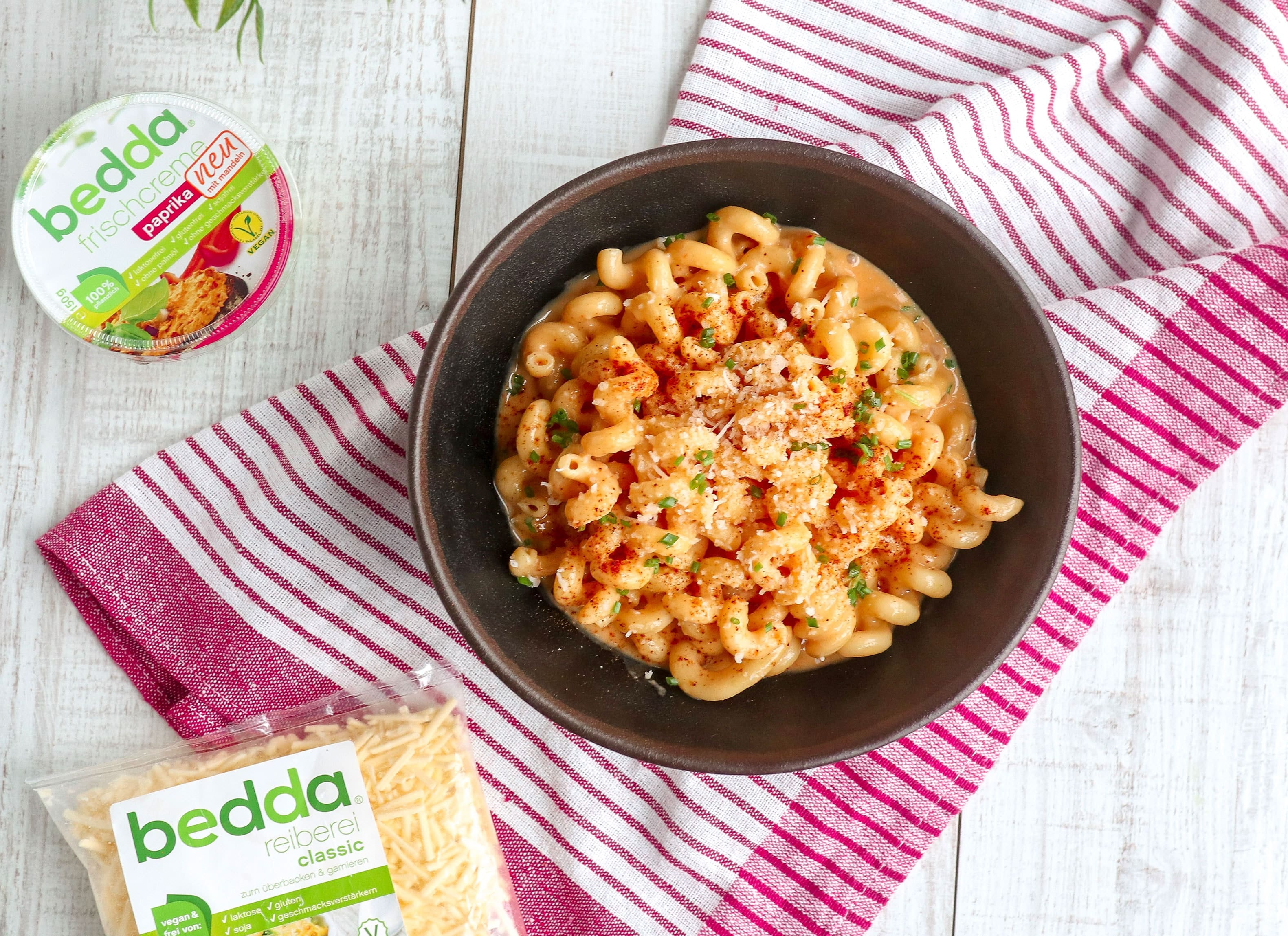 Vegane Alternative zu Mac and Cheese