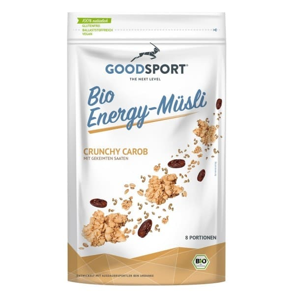 Goodsport ENERGY-CEREALS Crunchy Carob, ORGANIC, 400g