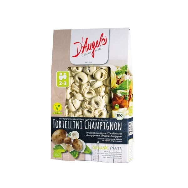 D'Angelo TORTELLINI with button mushrooms, organic, 250g