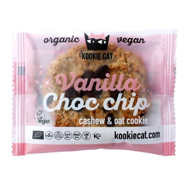 Kookie Cat CASHEW-OAT-COOKIE vanilla & choc chip, organic, 50g