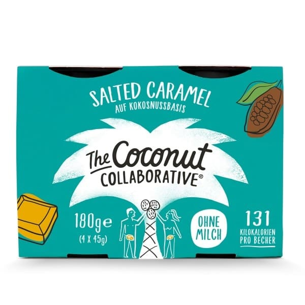 The Coconut Collaborative COCONUT DESSERT salted caramel, 4x45g