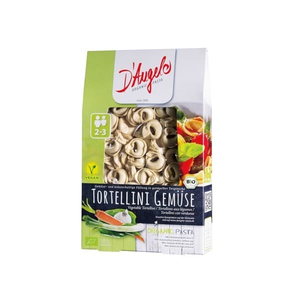 D'Angelo TORTELLINI with vegetables, organic, 250g