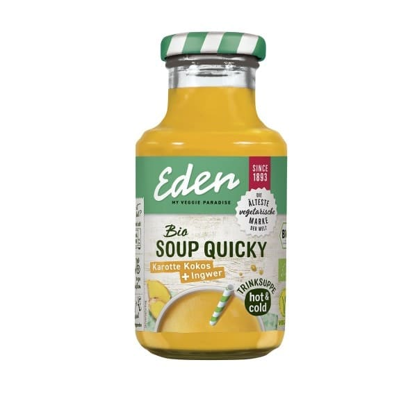 Eden SOUP QUICKY carrot coconut + ginger, organic, 250ml