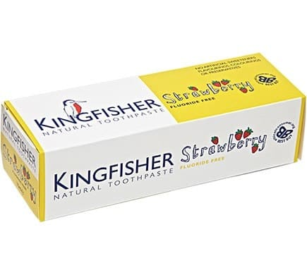 KINGFISHER Strawberry Toothpaste, Fluoride Free for Children, 75 ml