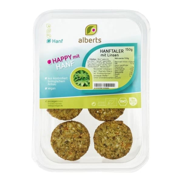 Alberts HANFTALER with lentils, organic, 150g