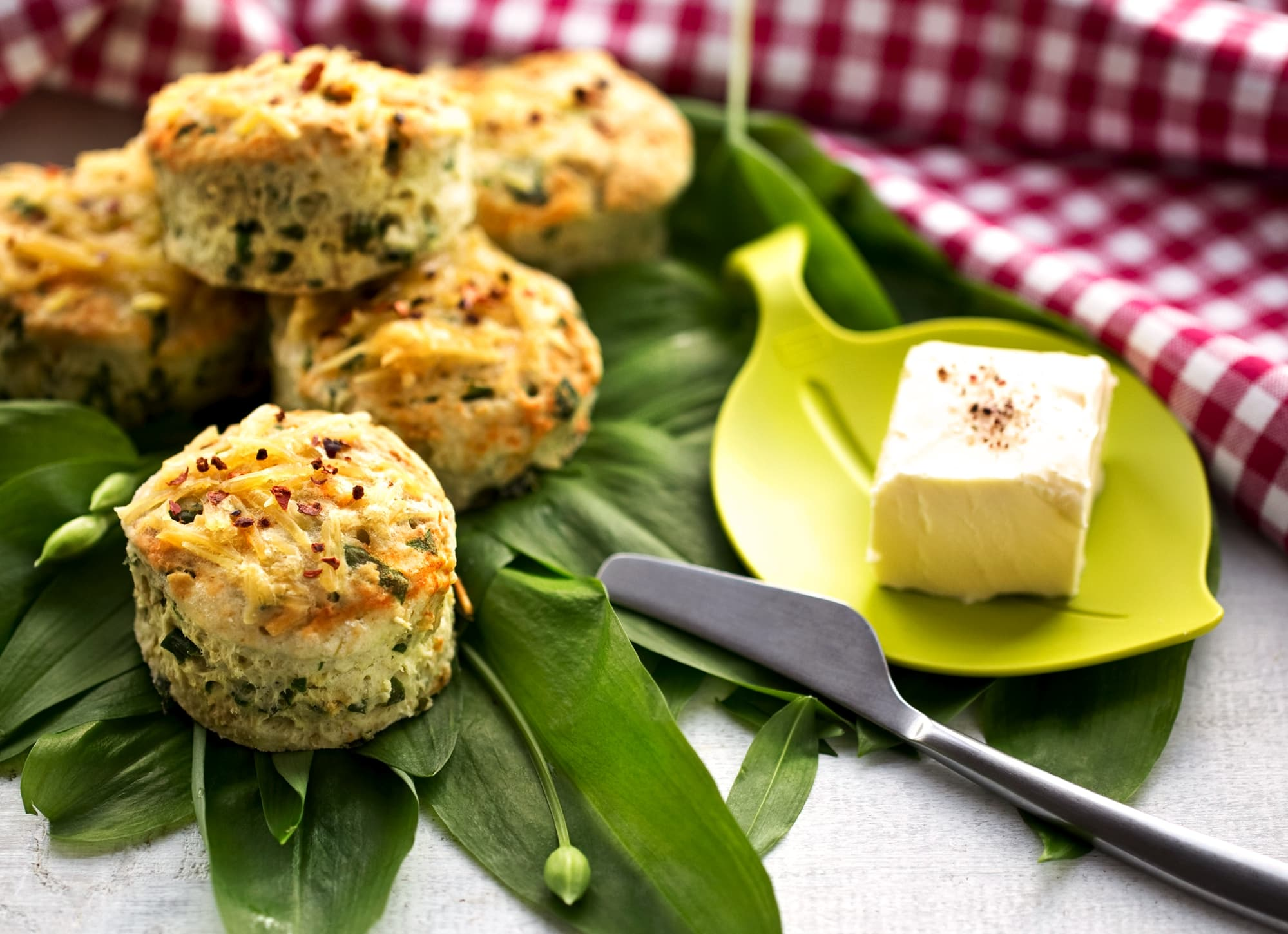 SPICY WILD GARLIC SCONES